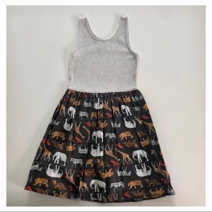 6-7Y Safari Print Tank Dress